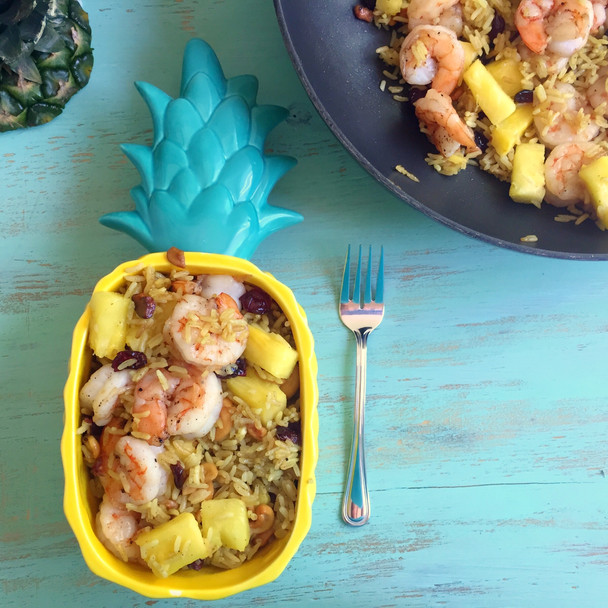 Pineapple Fried Rice with Shrimp