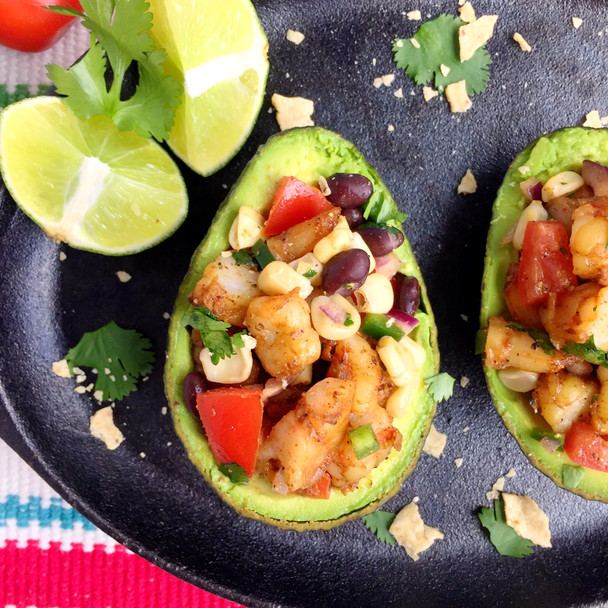 Southwest Shrimp Stuffed Avocado