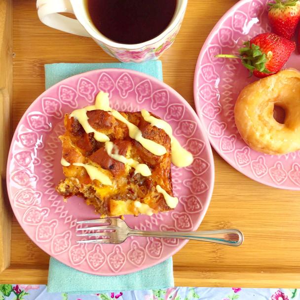 Glazed Donut Breakfast Casserole