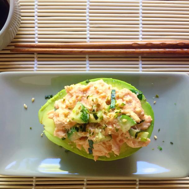 Spicy California Roll Stuffed Avocado