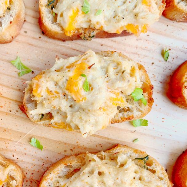 Crabby Garlic Crostini