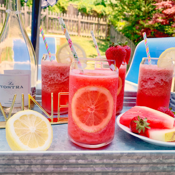 Fruity Lemonade Rose Slushies