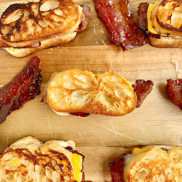 Mini Grilled Cheese with Candied Bacon