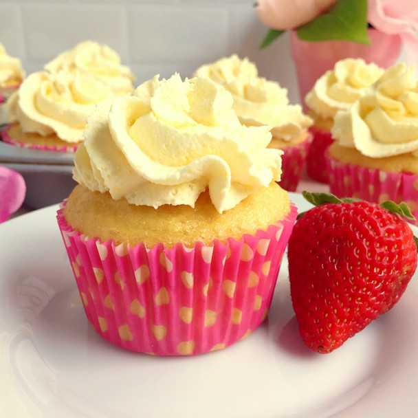 Sugar Free Strawberry Shortcake Cupcakes