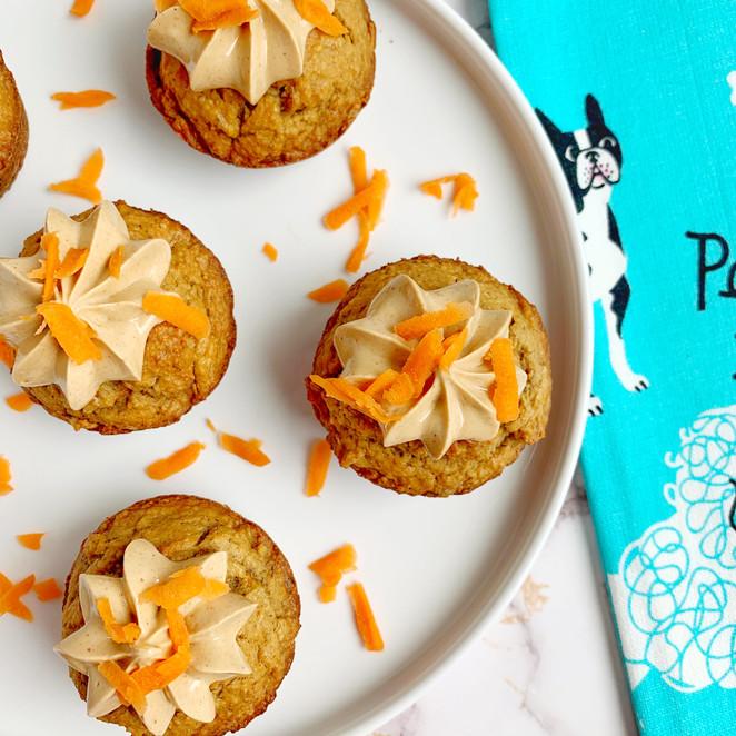 Peanut Butter Carrot Pupcakes