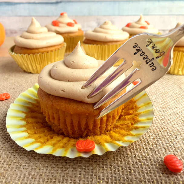 Pumpkin Cupcakes with Cookie Butter Frosting