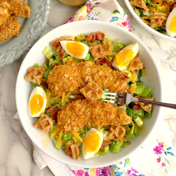 Chicken and Waffle Salad