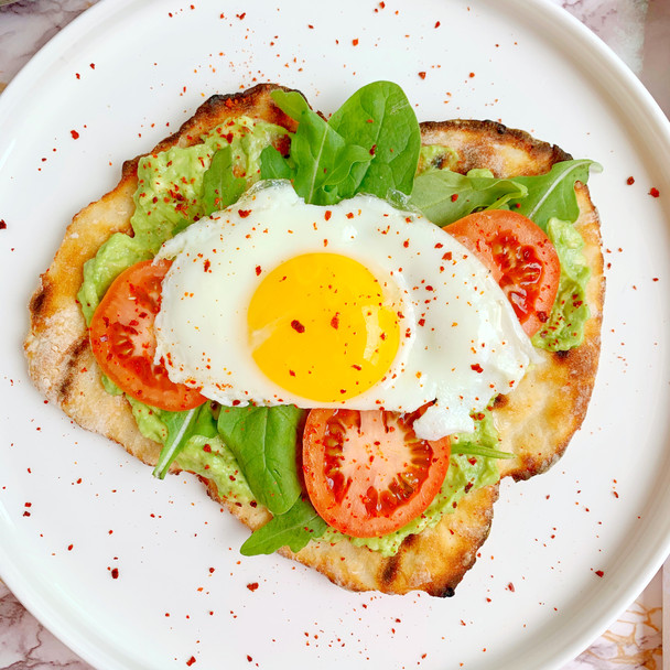 2 Ingredient Dough Avocado Toast Grilled Pizza