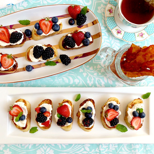 French Toast Crostini