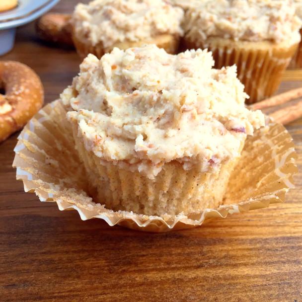 Cinnamon Pretzel Twist Cupcakes