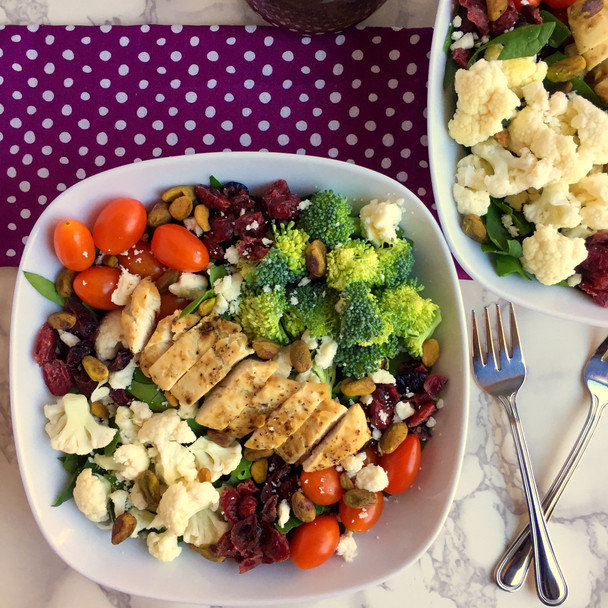 Sweet and Crunchy Salad with Chicken