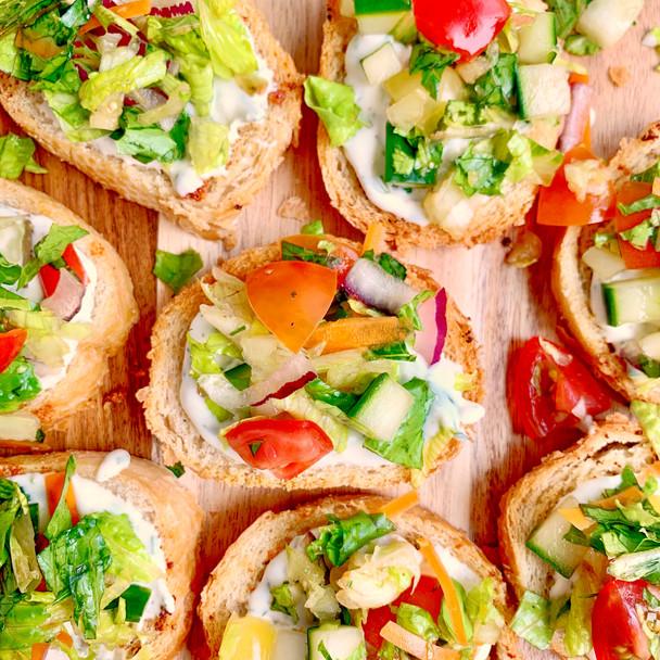 House Salad Crostini