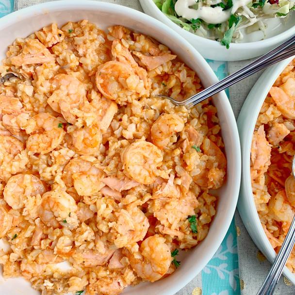 Shrimp, Salmon, and Rice...Take 2!