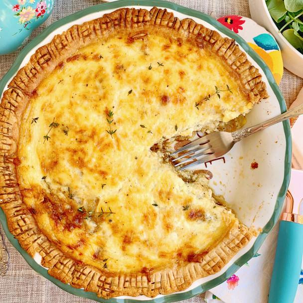 French Onion Soup Quiche
