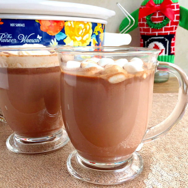 Spiked Slow Cooker Caramel Hot Chocolate