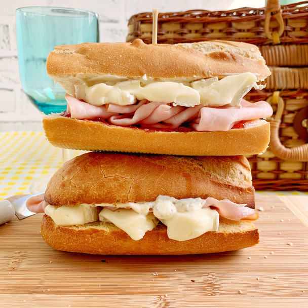 French Ham and Cheese Baguette- 2 Ways