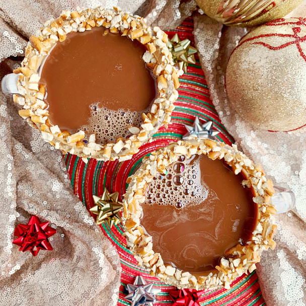 Pretzel Hot Chocolate + The 12 Days of Beverages Challenge!