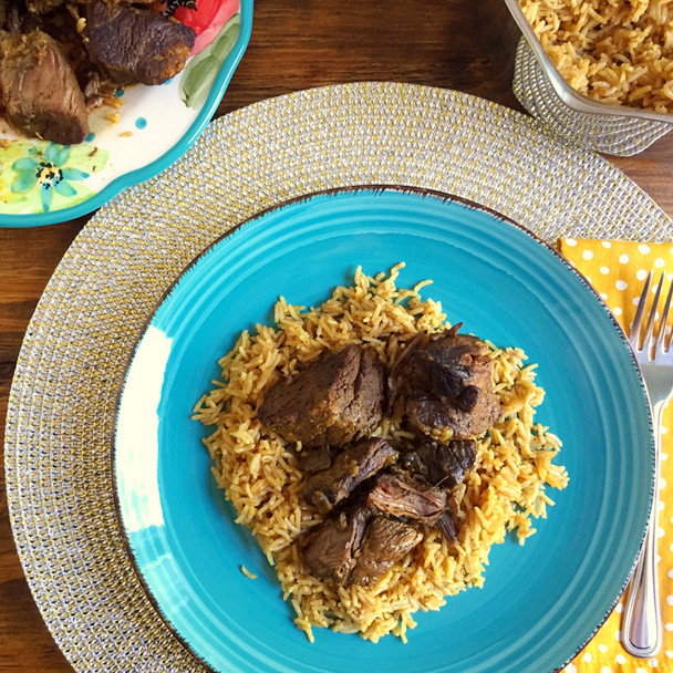 Middle Eastern Spiced Braised Beef with Rice