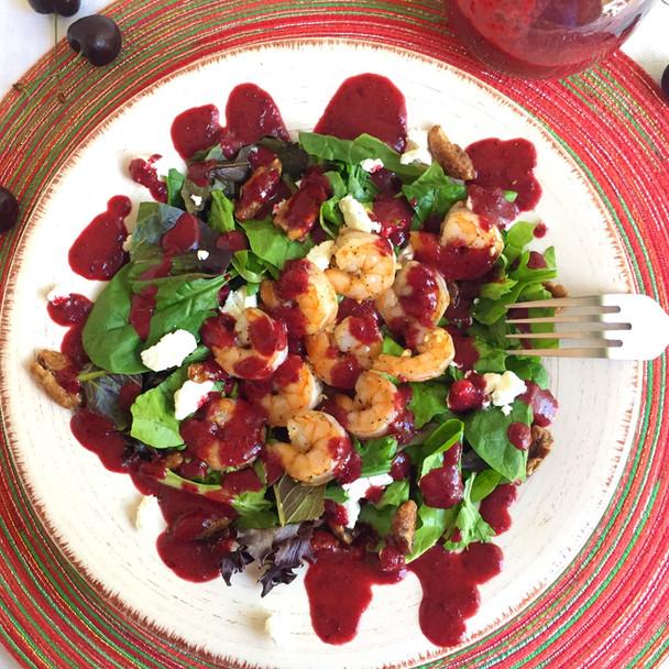 Roasted Shrimp Salad with Cherry Vinaigrette