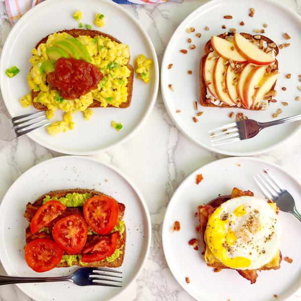 Breakfast Toast 4 Ways