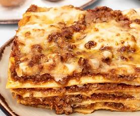 Image of a gooey lasagne