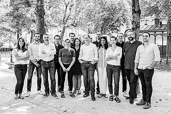 Tilkal team in a garden in Paris