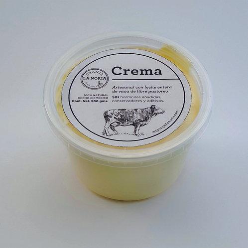 Crema artesanal, 500gms