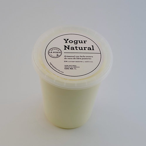 Yogur artesanal natural, 1L