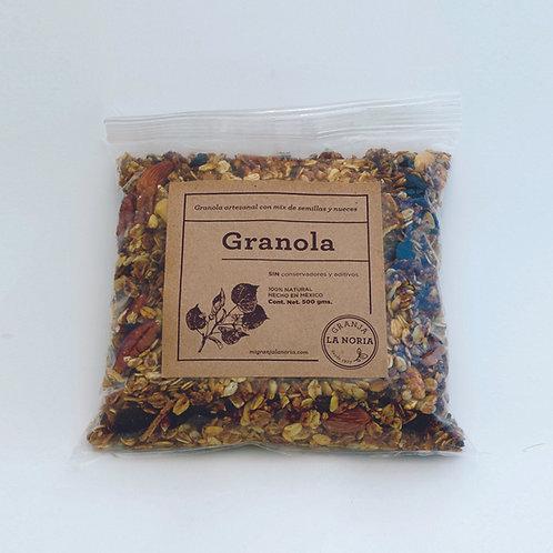 Granola Artesanal con nueces&semillas, 500gms