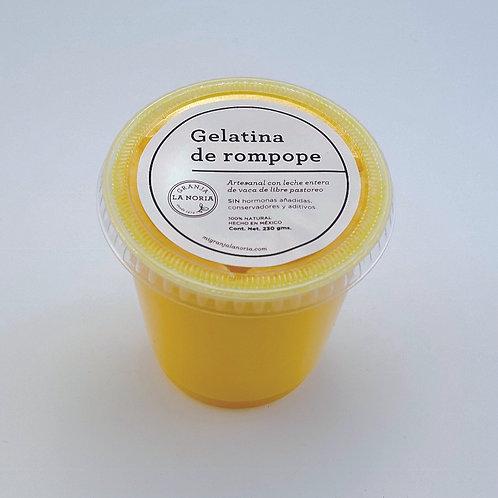 Gelatina artesanal de rompope, 230 gms