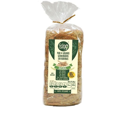 Pan granos germinados natural