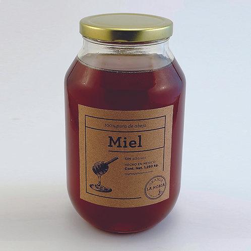 Miel de abeja 100% pura, 1.250 kg