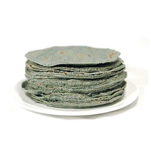 Tortillas de maíz azul (12 piezas)