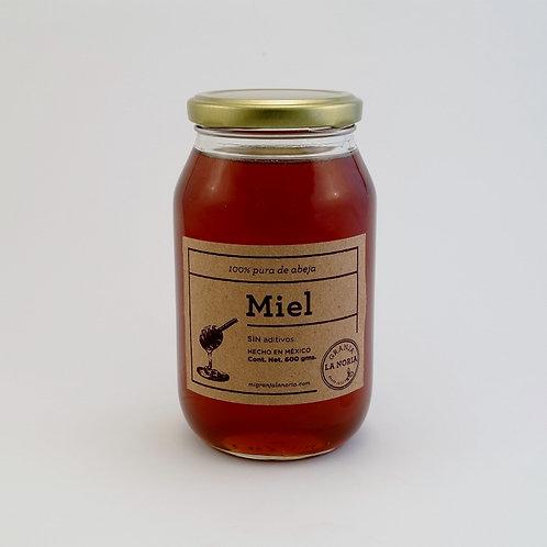 Miel de abeja 100% pura, 600 gms
