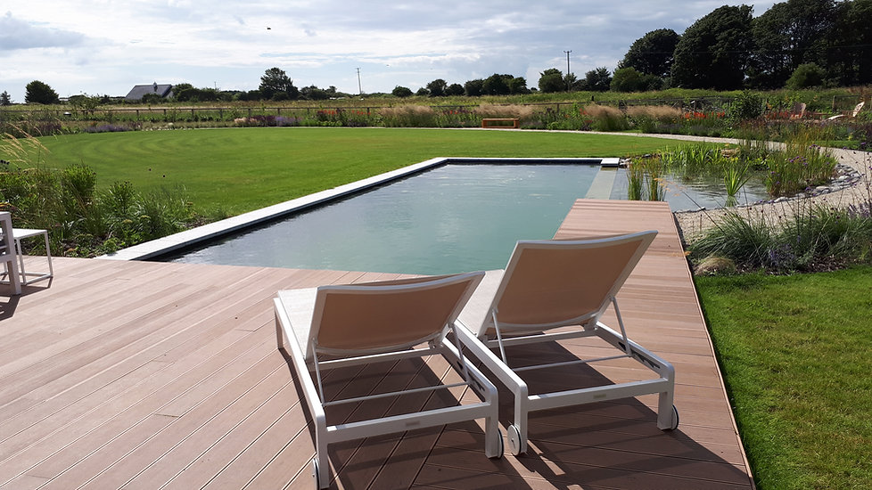 deck pool pond lawn planting landscape awards greenore