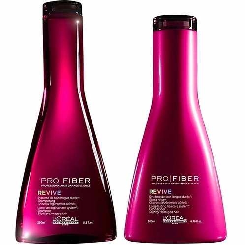 L'OREAL PROFESSIONNEL Pro Fiber Revive Shampoo 250ml & Conditioner 200ml Twin