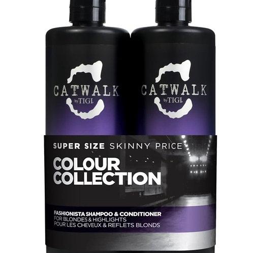 TIGI CATWALK Fashionista Violet Shampoo & Conditioner 750ml Duo