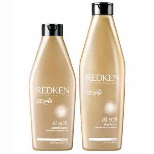 Redken All Soft Duo - All Soft Shampoo (300ml) & All Soft Conditioner (250ml)