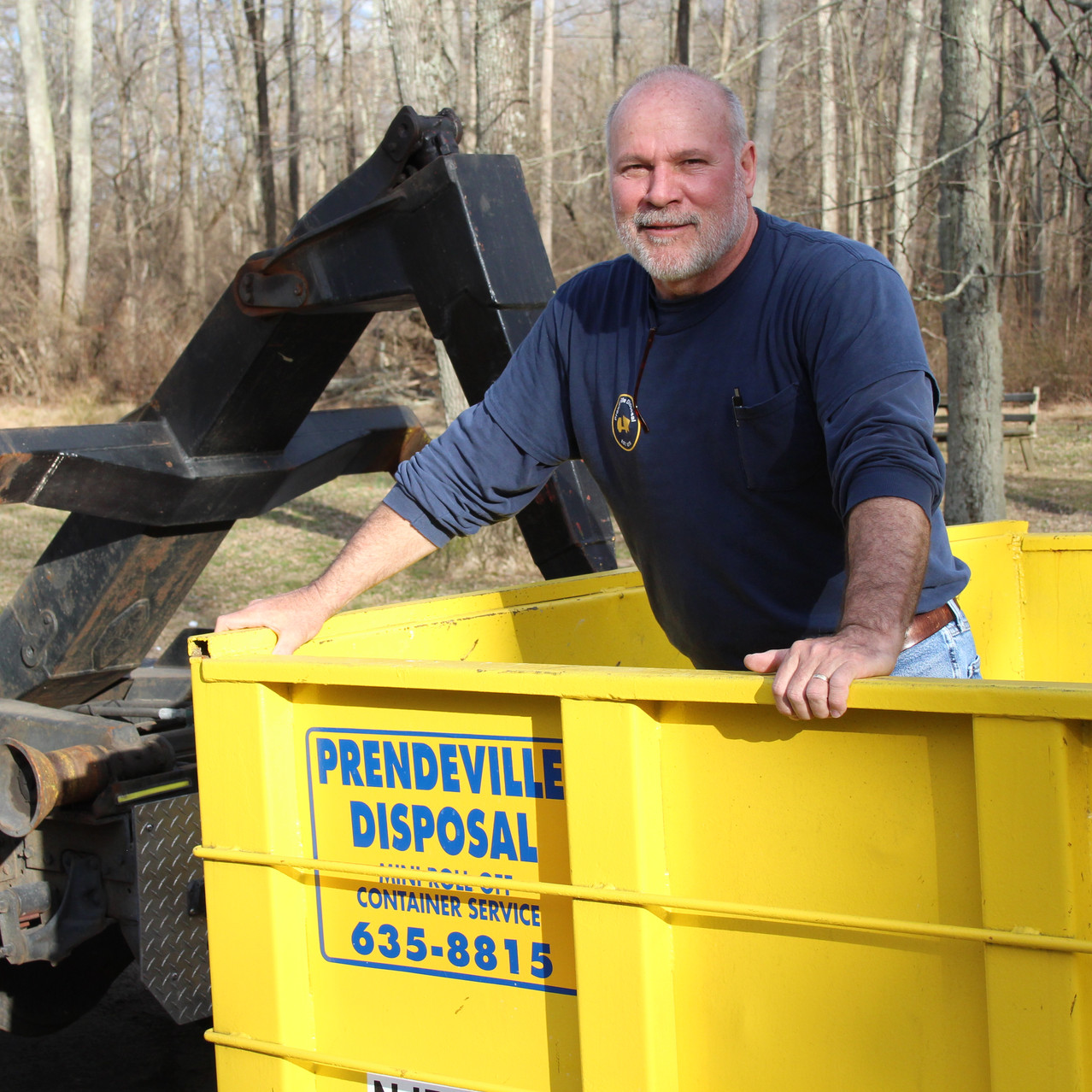 Call Mike at Prendeville Disposal.