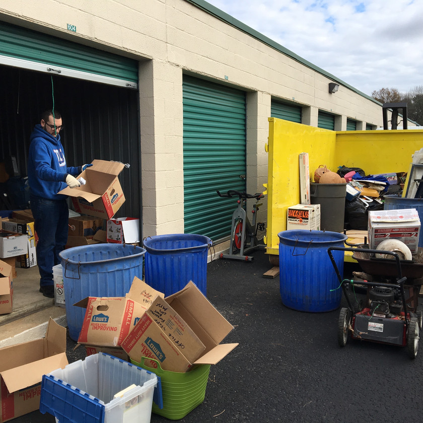 Prendeville Disposal often helps customers manage their storage units.