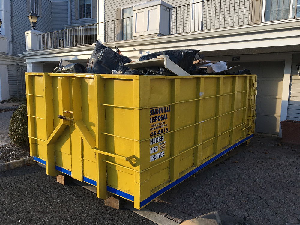 Prendeville Disposal Dumpster fits just about anywhere!