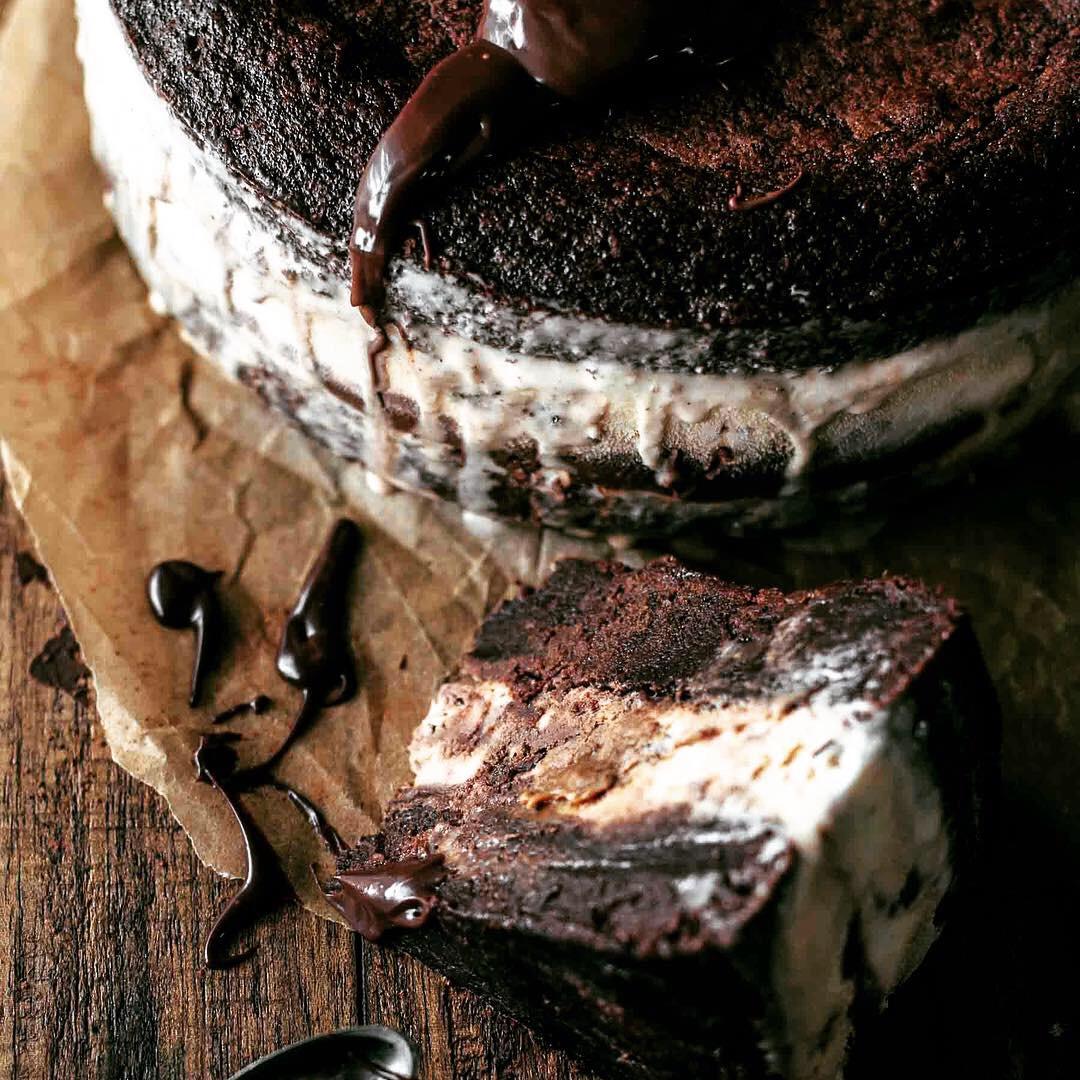 chocolate fudge truffle brownie cake 2