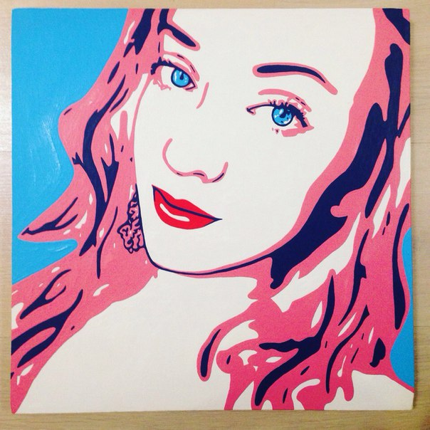 Поп арт портрет по фото 60х60 см