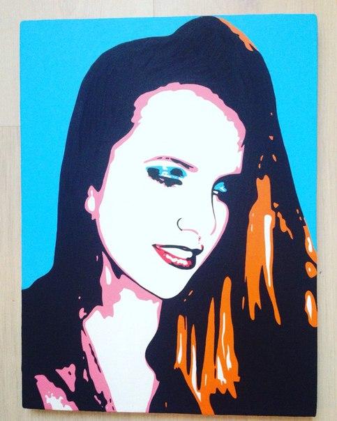 Поп арт портрет по фото 40х60 см