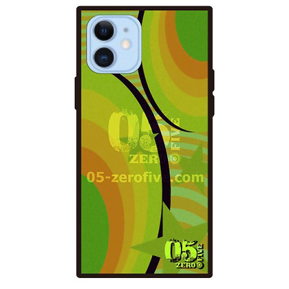 05 iPhoneスクエア型強化ガラスケース マガジン-グリーン