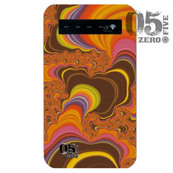 05 モバイルバッテリー サイケ-オレンジ