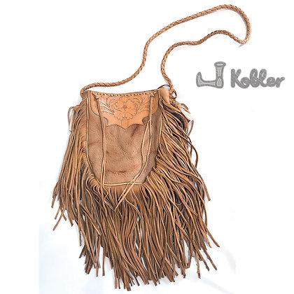 Kobler レザータンハンドツールドポーチバッグ