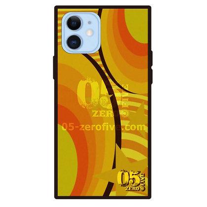05 iPhoneスクエア型強化ガラスケース マガジン-イエロー