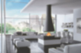 caminetto a legna Piazzetta mod.Panoramic