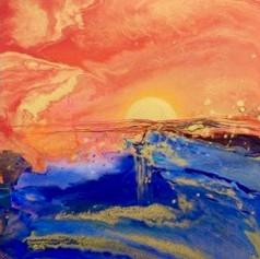 Magical Sunrise 100x100 cm